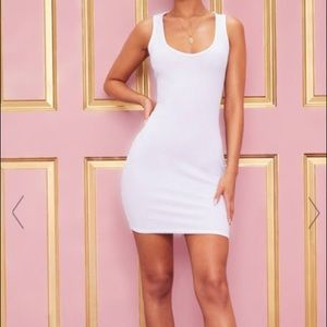 New White Bodycon Dress, size 2